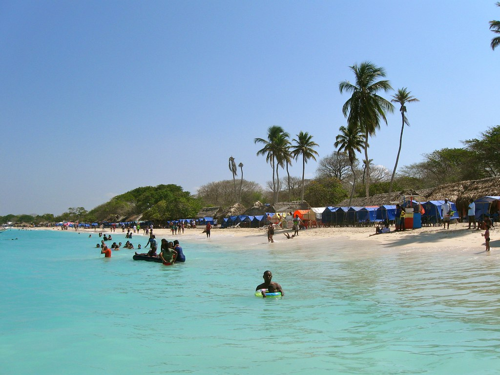Playa Blanca colombia photo
